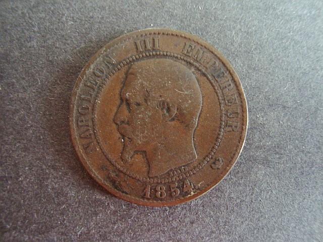 1856 napoleon iii empereur coin dix centimes