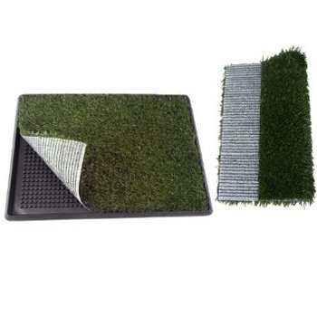 "Indoor Pet Potty Dog Park Patch Mat Trainning Pad Toilet 30"" X 20"" X2"" with a Replacement Grass Mat"