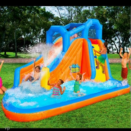 banzai gushing geyser water slide park inflatable kids. Black Bedroom Furniture Sets. Home Design Ideas