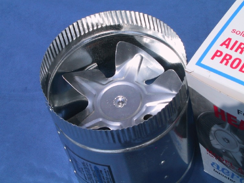 Square Duct Booster Fan : Quot high cfm s aero flo furnace duct booster fan ebay
