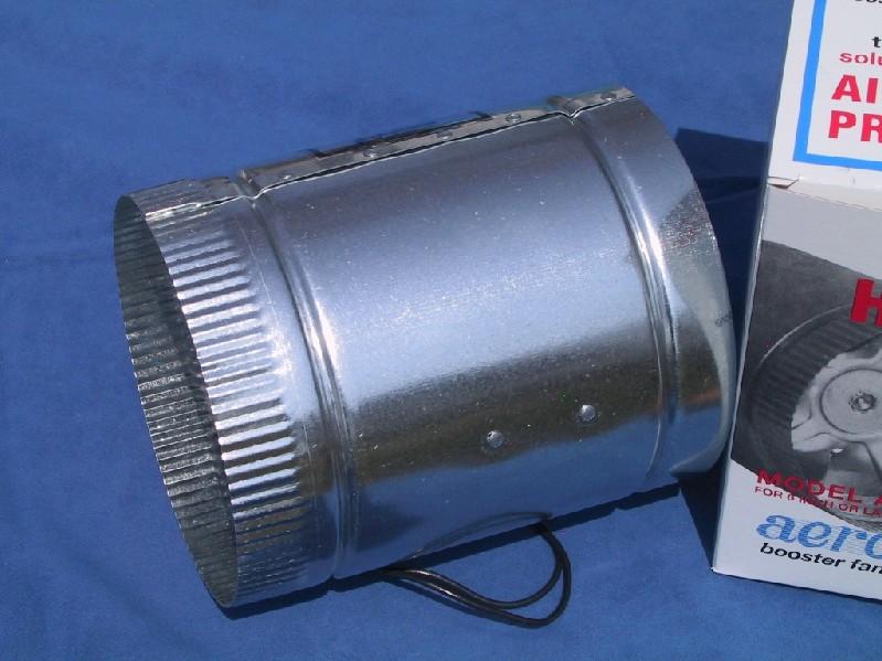 Ac Duct Booster Fan : Quot aero flo high cfms inline duct air booster fan ebay