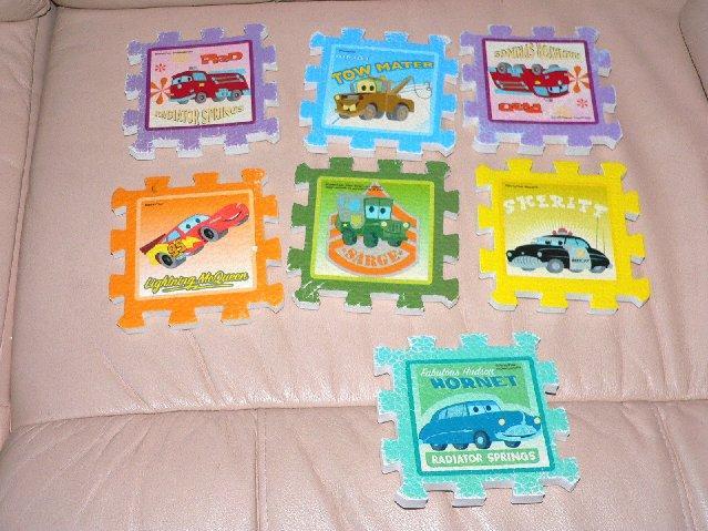 43 Pc Disney Pixar Cars Princess Dora Explorer Soft Foam