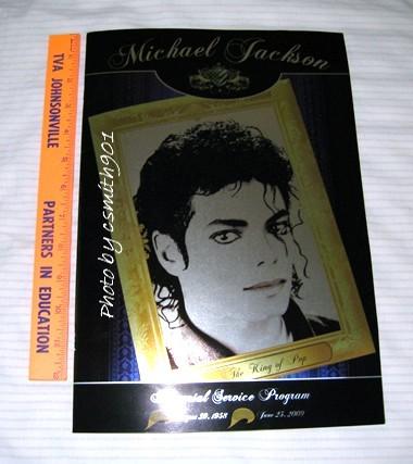 Michael Jackson Forest Lawn Memorial Program Black Gold