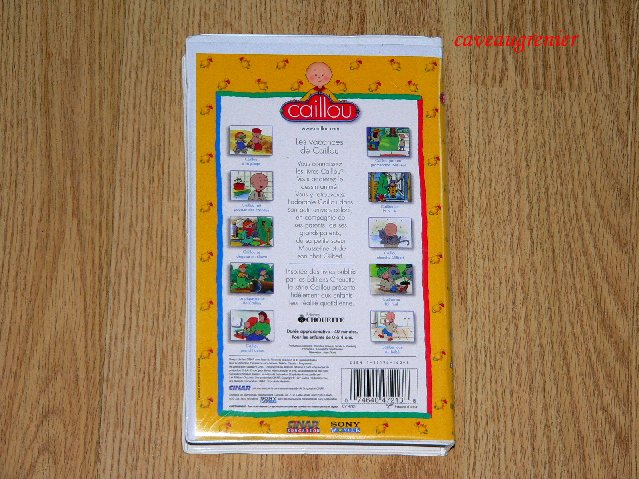 1 CAILLOU PBS French VHS Video Aventure Vacances Fait ... Caillou Family Collection Dvd Ebay