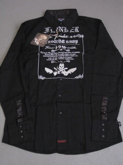 Fender Ls Custom Shop Black Skull Shirt Button Up Guitar