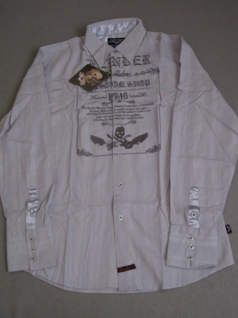 Fender ls custom shop grey skull shirt button up guitar for Custom long sleeve button down shirts