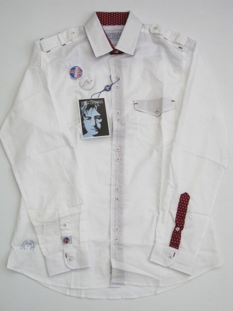 People For Peace White John Lennon English Laundry Shirt