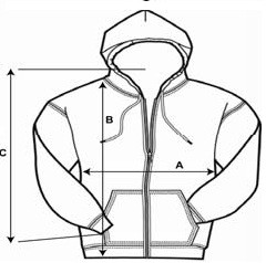 Hoodie size graph