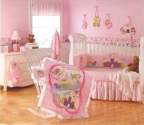 Wamsutta Fairy Tales Princess Bear Baby Nursery Crib