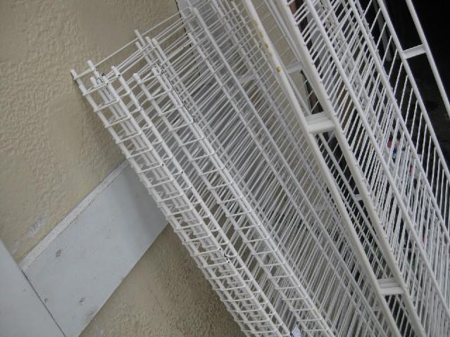 lot lee rowan wire shelving epoxy coated white used ebay