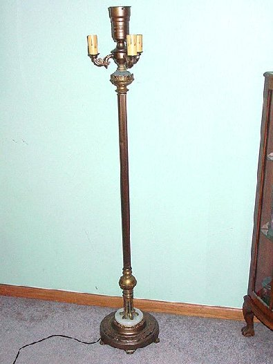 torchiere floor lamp i have for auction a vintage torchiere floor lamp. Black Bedroom Furniture Sets. Home Design Ideas
