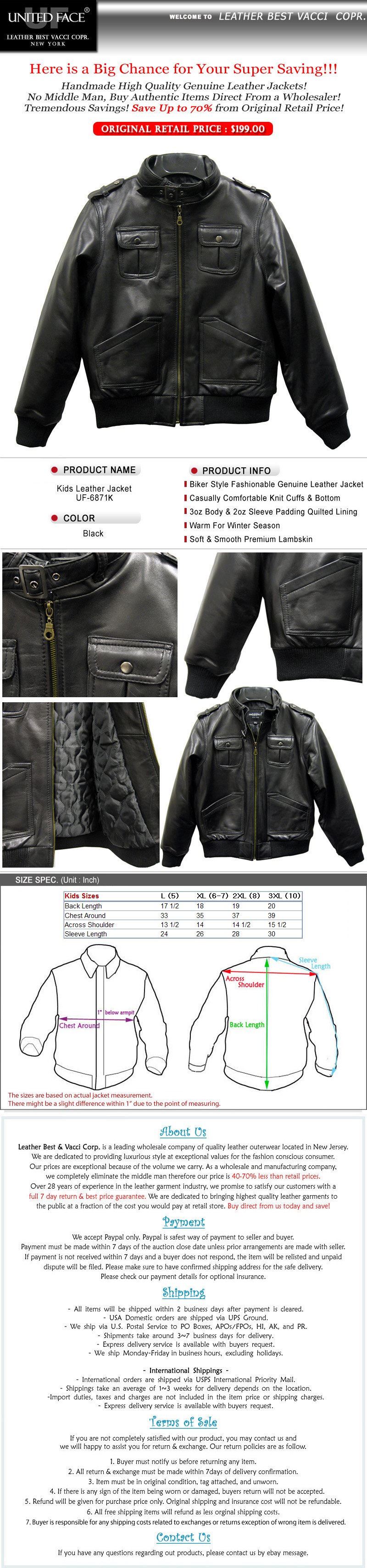 boys leather coat