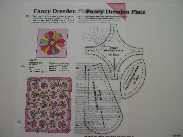 how to make a dresden plate template - fancy dresden plate quilt pattern spinning spools w uncut