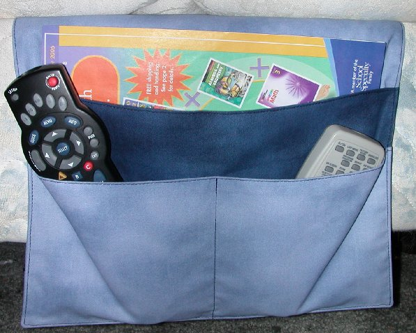fabric bedside tv remote control holder organizer caddy ebay. Black Bedroom Furniture Sets. Home Design Ideas