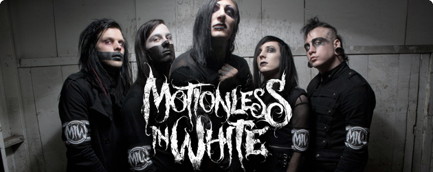 authentic motionless in white full band photo logo slim fit t shirt s xxl new ebay. Black Bedroom Furniture Sets. Home Design Ideas