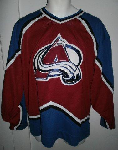 Colorado Avalanche Jersey NHL Hockey Sewn Patch Shirt CCM Mens Sz L ... cd09678d9