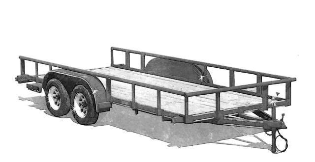 Surprising 1 Trailer Plans 8X16 Low Deck Tandem Utility Trailer Plans Largest Home Design Picture Inspirations Pitcheantrous