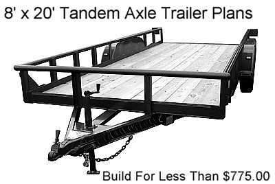 8x20 flatbed utility trailer plans instructions bom ebay for Small trailer plans free