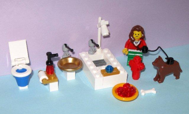Lego Dog Food Dispenser