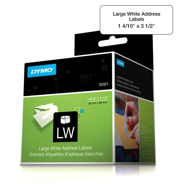 4pk 4 rolls genuine dymo labelwriter lw large white for Dymo address label template